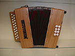 Mengascini Traditional 2 Row Diatonic Accordion B/C Tunned